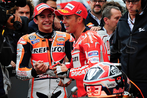 30.08.2014.  Silverstone, England. MotoGP. British Grand Prix. Marc Marquez (repsol Honda Team) during the qualifying sessions.