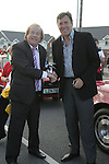 Packie Bonner with Frank Godfrey at the Prawn Parade in Clogherhead....Photo NEWSFILE/Jenny Matthews.(Photo credit should read Jenny Matthews/NEWSFILE)....This Picture has been sent you under the condtions enclosed by:.Newsfile Ltd..The Studio,.Millmount Abbey,.Drogheda,.Co Meath..Ireland..Tel: +353(0)41-9871240.Fax: +353(0)41-9871260.GSM: +353(0)86-2500958.email: pictures@newsfile.ie.www.newsfile.ie.FTP: 193.120.102.198.