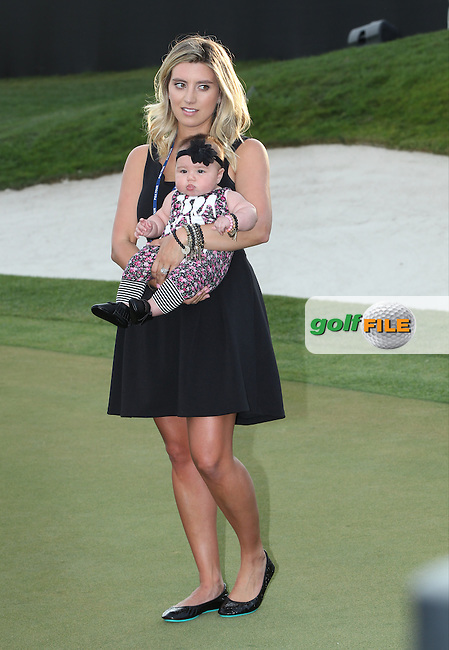 Ellie Day with baby Lucy (AUS)  during The Final Round of the Arnold Palmer Invitational, Bay Hill Club and Lodge, Orlando,  Florida, USA. 20/03/2016.<br /> Picture: Golffile | Mark Davison<br /> <br /> <br /> All photo usage must carry mandatory copyright credit (&copy; Golffile | Mark Davison)