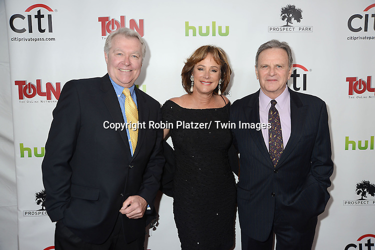 "Jerry verDorn, Hillary B Smith and Bob Woods  attends the New York Premiere of ""All My Children"" and. ""One Life to Live "" on April 23, 2013 at NYU Skirball Theatre in New York City. Prospect Park is producing the shows and they will air on www.hulu.com starting on April 29, 2013."