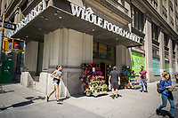 The Whole Foods Market in Chelsea in New York on Tuesday, April 11, 2017. Hedge fund Jana Partners has taken an 8.3 percent stake in Whole Foods.  (© Richard B. Levine)
