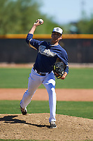 San Diego Padres pitcher Adrian Martinez (45) during an instructional league game against the Texas Rangers on October 9, 2015 at the Surprise Stadium Training Complex in Surprise, Arizona.  (Mike Janes/Four Seam Images)