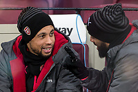 Francis Coquelin of Arsenal ahead of the Premier League match between West Ham United and Arsenal at the Olympic Park, London, England on 13 December 2017. Photo by Andy Rowland.