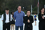 Todd Eldredge - Christopher Meloni & B.D. Wong at Skating with the Stars (celebrities & Olympic skaters), a benefit gala for Figure Skating in Harlem on April 6, 2010 at Wollman Rink, Central Park, New York City, New York. (Photo by Sue Coflin/Max Photos)