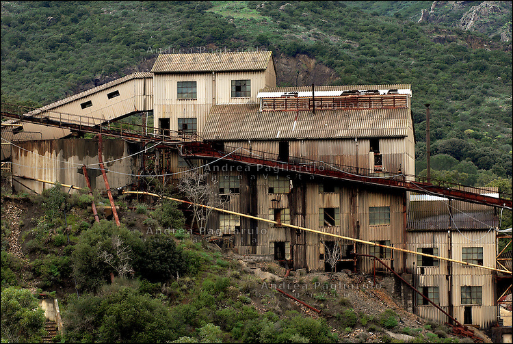 Italia, Sardegna, Sulcis.<br /> Miniera di Montevecchio.<br /> Italy, Sardinia, Sulcis.<br /> Montevecchio coal mine.