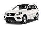 2016 Mercedes Benz GLE-Class 5 Door SUV Angular Front stock photos of front three quarter view