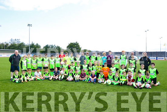 Enjoying the FAI  Soccer Camp at the Kerry District League  in Mounthawk Park on Tuesday