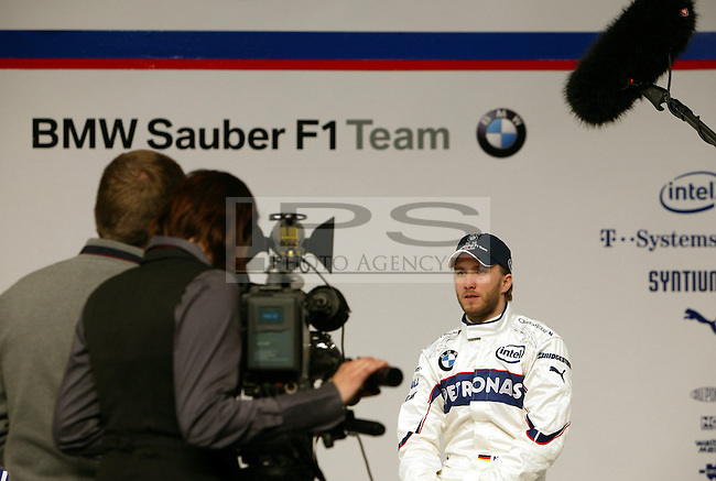 ©Jad Sherif/WRI2/TEAMSHOOT - Munich Germany 14/01/2008 ; BMW Sauber F1.08 Launch 14/01/08 ; Nick Heidfeld, BMW Sauber F1 Team..BMW Welt Munich....***************************************..GERMANY, AUSTRALIA, FINLAND,..ITALY and SWITZERLAND OUT..***************************************..© MaxPPP / IPS PHOTO AGENCY ..ONLY UK..FOR ANY INFO'S PLEASE CONTACT:..IPS photo..21 Delisle rd.. London SE28 0JD..TEL 004420883310207..FAX 00442088551037..Mob: 00447973308835....ONLY UK ONLY UK ONLY UK ONLY UK ..