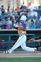 Alex Bregman (6) of the Lancaster JetHawks bats during a game against the High Desert Mavericks at The Hanger on September 5, 2015 in Lancaster, California. High Desert defeated Lancaster, 7-6. (Larry Goren/Four Seam Images)