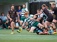 Jack Tovey of Ealing Trailfinders during the RFU Championship Cup match between Ealing Trailfinders and Ampthill RUFC at Castle Bar , West Ealing , England  on 28 September 2019. Photo by Alan  Stanford / PRiME Media Images