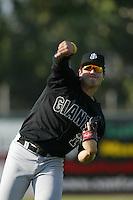 Eddy Martinez-Esteve of the San Jose Giants before a 2004 season California League game against the Inland Empire 66ers at San Manuel Stadium in San Bernardino, California. (Larry Goren/Four Seam Images)