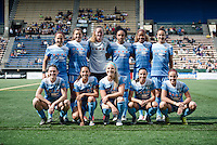 Seattle, WA - Sunday, May 22, 2016: Chicago Red Stars starting IX for a regular season National Women's Soccer League (NWSL) match at Memorial Stadium.