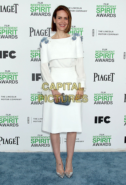 1 March 2014 - Santa Monica, California - Sarah Paulson. 2014 Film Independent Spirit Awards held at Santa Monica Beach. <br /> CAP/ADM/RE<br /> &copy;Russ Elliot/AdMedia/Capital Pictures