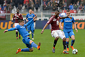 18th March 2018, Stadio Olimpico di Torino, Turin, Italy; Serie A football, Torino versus Fiorentina; Nicolas N'Koulou shields the ball from Jordan Veretout and Giovanni Simeone