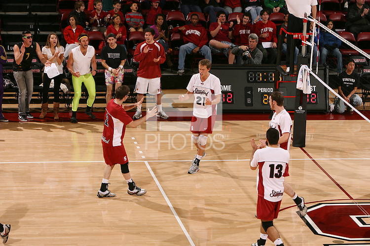 STANFORD, CA - JANUARY 30:  Spencer McLachlin of the Stanford Cardinal during Stanford's 3-2 win over the Long Beach State 49ers on January 30, 2009 at Maples Pavilion in Stanford, California. Also pictured are Jarod Keller, Brandon Williams, and Jason Palacios.
