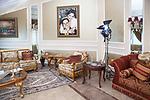 Shooting of the series &ldquo;Mesh Ana&rdquo; (&ldquo;Not for me&rdquo;), Lebanon, Mars 2016 (M&amp;M production). The scene is shot in the villa of a rich lebanese family, that offered the production to use their house for the series. Lebanese productions usually use real location, as there are no big studios like in Egypt for example. The decoration of the living room is intact, as chosen by the house owners.<br /> <br /> Tournage de la s&eacute;rie &quot;Mesh Ana&quot; (&quot;Sans moi&quot;), Liban, Mars 2016 (M&amp;M production). La sc&egrave;ne est tourn&eacute;e dans la villa d'une riche famille Libanaise, qui a mis &agrave; disposition sa maison &agrave; la production: les s&eacute;ries Libanaises sont presque syst&eacute;matiquement tourn&eacute;es dans des lieux existants, en l'absence de grands studios comme en Egypte. La d&eacute;coration est celle d'origine choisie par les propri&eacute;taires.