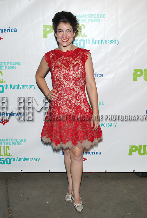 Sarah Stiles attending the Opening Night Performance After Party for  The Public Theater's 'Into The Woods' at the Delacorte Theater in New York City on 8/9/2012.