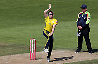 Liam  Dawson of Hampshire in bowling action during Hampshire vs Essex Eagles, Vitality Blast T20 Cricket at the Ageas Bowl on 25th August 2019