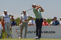 Billy Horschel (USA) watches his tee shot on 3 during round 2 of the AT&amp;T Byron Nelson, Trinity Forest Golf Club, at Dallas, Texas, USA. 5/18/2018.<br /> Picture: Golffile | Ken Murray<br /> <br /> <br /> All photo usage must carry mandatory copyright credit (&copy; Golffile | Ken Murray)