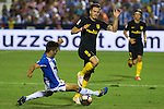 Club Deportivo Leganes's Unai Bustinza and Atletico de Madrid's Saul Iniguez during the match of La Liga between Club Deportivo Leganes and Atletico de Madrid at Butarque Estadium in Leganes. August 27, 2016. (ALTERPHOTOS/Rodrigo Jimenez)