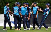 Cricket - ODI Summer Tri-Series - Scotland V Sri Lanka at Grange CC - Edinburgh - Scotland celebrate - Picture by Donald MacLeod - 13.07.11 - 07702 319 738 - www.donald-macleod.com