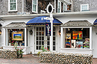 Water Street art gallery, Edgartown, Martha's Vineyard, Massachusetts, USA