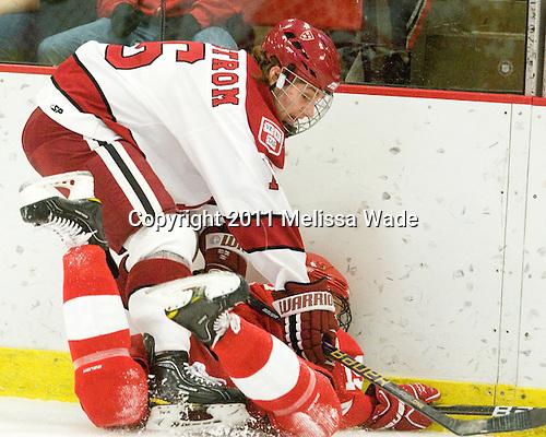 Alex Fallstrom (Harvard - 16), Sean Whitney (Cornell - 19) - The visiting Cornell University Big Red defeated the Harvard University Crimson 2-1 on Saturday, January 29, 2011, at Bright Hockey Center in Cambridge, Massachusetts.