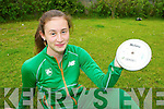Discus Thrower Kayleigh Cronin Killarney who will represent Ireland at the World Youth Championships in Donetsk, Ukraine this weekend