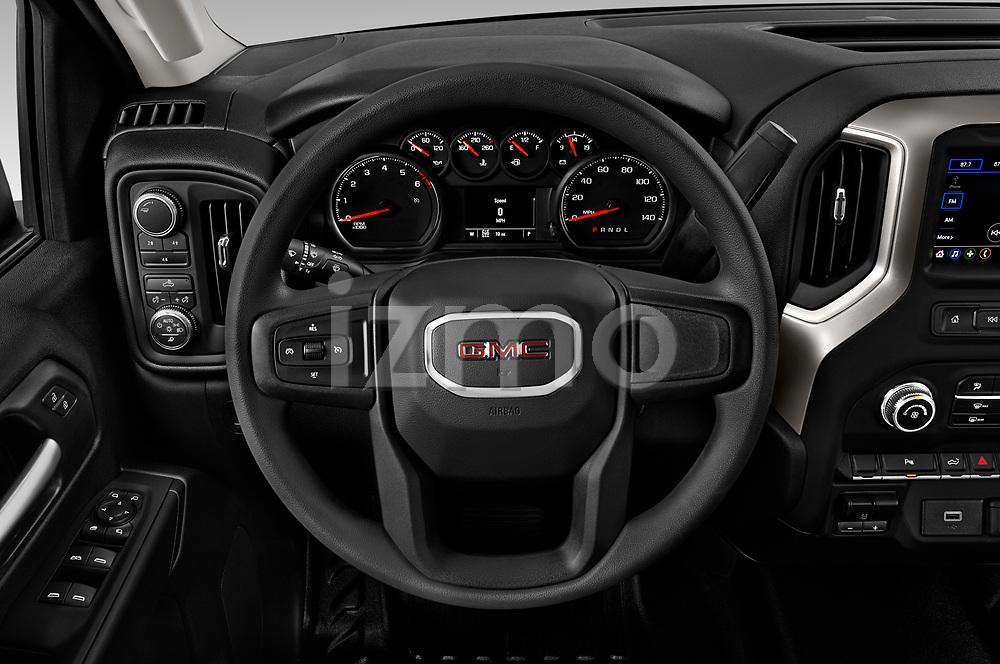 Car pictures of steering wheel view of a 2020 GMC Sierra-2500HD - 4 Door Pick-up Steering Wheel