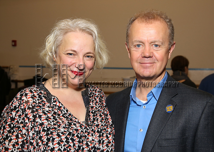 Astrid Van Wieren and Lee MacDougall attends the press day for Broadway's 'Come From Away' at Manhattan Movement and Arts Center on February 7, 2017 in New York City.