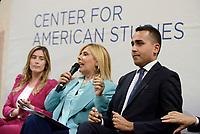 Roma, 23 Maggio 2017<br /> Maria Elena Boschi Maria Latella e Luigi di Maio.<br /> Presentazione del Libro: Sviluppo e Innovazione presso il Centro Studi Americani