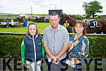 l-r  Caoimhe Gobbins, Ger Gobbins and Marie Gobbins enjoying the North Kerry Harriers Point to Point at Ballybeggan Tralee on Saturday