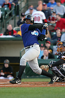 Norfolk Tides Juan Tejeda during an International League game at Frontier Field on April 18, 2006 in Rochester, New York.  (Mike Janes/Four Seam Images)