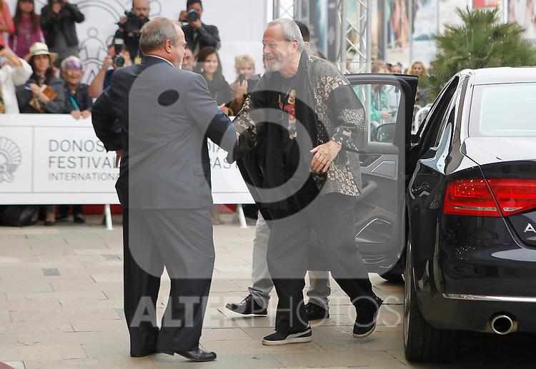 arrives to Maria Cristina Hotel to attend the 61 San Sebastian Film Festival, in San Sebastian, Spain. September 20, 2013. (ALTERPHOTOS/Victor Blanco)