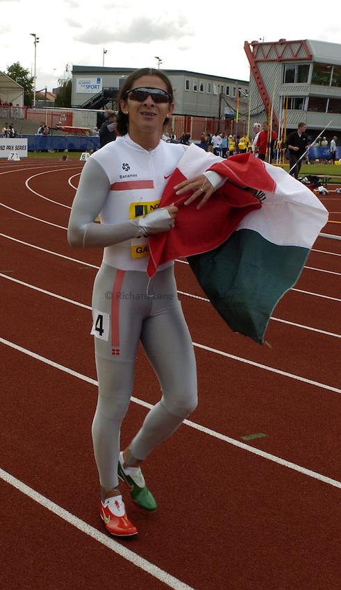 Photo. Jed Wee..Norwich Union British Grand Prix, 27/06/2004..Mexico's Ana Guevara.