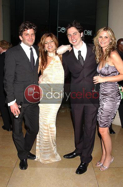 Eva Mendes, Zach Braff and Bonnie Sommerville