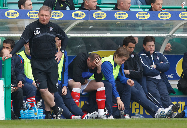 Kris Boyd dumped on the bench