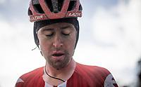 Tiesj Benoot 's (BEL/Sunweb) post-race face<br /> <br /> 75th Omloop Het Nieuwsblad 2020 (1.UWT)<br /> Gent to Ninove (BEL): 200km<br /> <br /> ©kramon