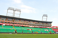 San Pedro Sula, Honduras - February 5, 2013: US Men's National team training session at Estadio Olimpico.