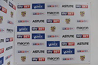 Managers Interview area during Stevenage vs Cambridge United, Sky Bet EFL League 2 Football at the Lamex Stadium on 14th April 2018