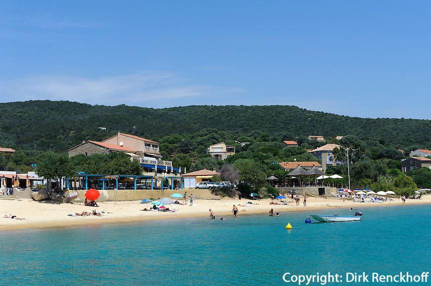 Strand von Porto Pollo, Korsika, Frankreich