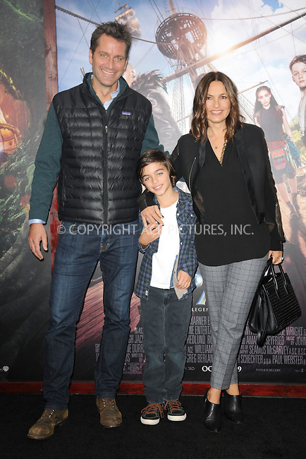 WWW.ACEPIXS.COM<br /> October 4, 2015 New York City<br /> <br /> Mariska Hargitay, August Miklos Friedrich Hermann and Peter Hermann attending the 'Pan' New York Premiere arrivals at Ziegfeld Theater on October 4, 2015 in New York City.<br /> <br /> Credit: Kristin Callahan/ACE Pictures<br /> <br /> Tel: (646) 769 0430<br /> e-mail: info@acepixs.com<br /> web: http://www.acepixs.com