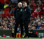 Mike Phelan assistant coach and Ole Gunnar Solskjaer manager of Manchester United during the Premier League match at Old Trafford, Manchester. Picture date: 8th March 2020. Picture credit should read: Darren Staples/Sportimage