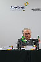 LISBOA, PORTUGAL, 20 DE ABRIL 2015 - FORÚM EMPRESARIAL BRASIL-PORTUGAL - Michel Temer, Vice-Presidente Brasileiro, durante o Forúm Empresarial Brasil-Portugal, em Lisboa, Portugal. (Foto: Bruno de Carvalho - Brazil Photo Press)