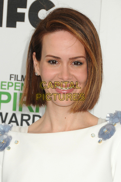 1 March 2014 - Santa Monica, California - Sarah Paulson. 2014 Film Independent Spirit Awards - Arrivals held at Santa Monica Beach. <br /> CAP/ADM/BP<br /> &copy;Byron Purvis/AdMedia/Capital Pictures
