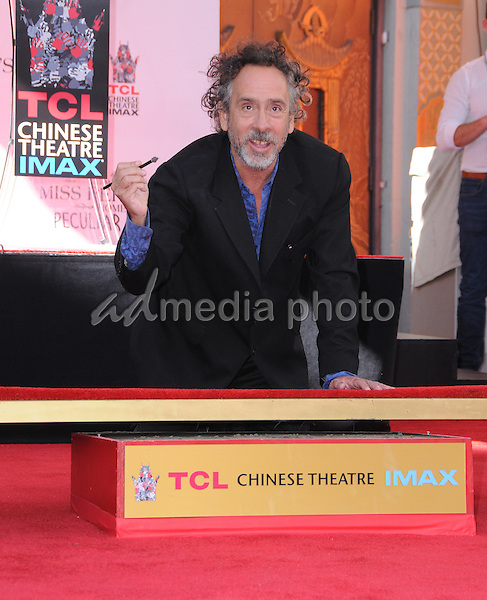 08 September 2016 - Hollywood, California. Tim Burton. Tim Burton Hand And Footprint Ceremony held at TCL Chinese Theatre. Photo Credit: Birdie Thompson/AdMedia