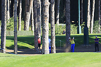 Scott Hend (AUS) plays his 2nd shot from the trees on the 10th hole during Thursday's Round 1 of the 2018 Turkish Airlines Open hosted by Regnum Carya Golf &amp; Spa Resort, Antalya, Turkey. 1st November 2018.<br /> Picture: Eoin Clarke | Golffile<br /> <br /> <br /> All photos usage must carry mandatory copyright credit (&copy; Golffile | Eoin Clarke)