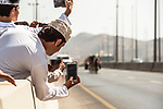 Camera phones at the ready during Stage 4 of the 2018 Tour of Oman running 117.5km from Yiti (Al Sifah) to Ministry of Tourism. 16th February 2018.<br /> Picture: ASO/Muscat Municipality/Kare Dehlie Thorstad   Cyclefile<br /> <br /> <br /> All photos usage must carry mandatory copyright credit (&copy; Cyclefile   ASO/Muscat Municipality/Kare Dehlie Thorstad)