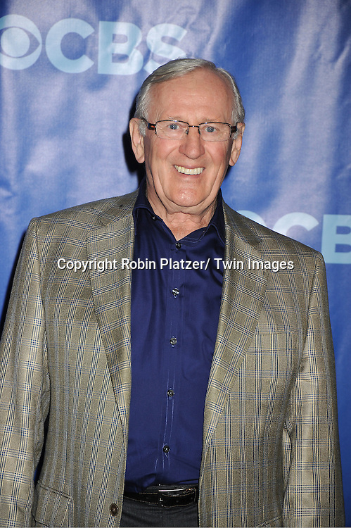 Len Cariou attending The CBS Upfront announcement of the Prime Time 2011-2012 Season on May 18, 2011 at Damrosch Park in  Lincoln Center in New York City.