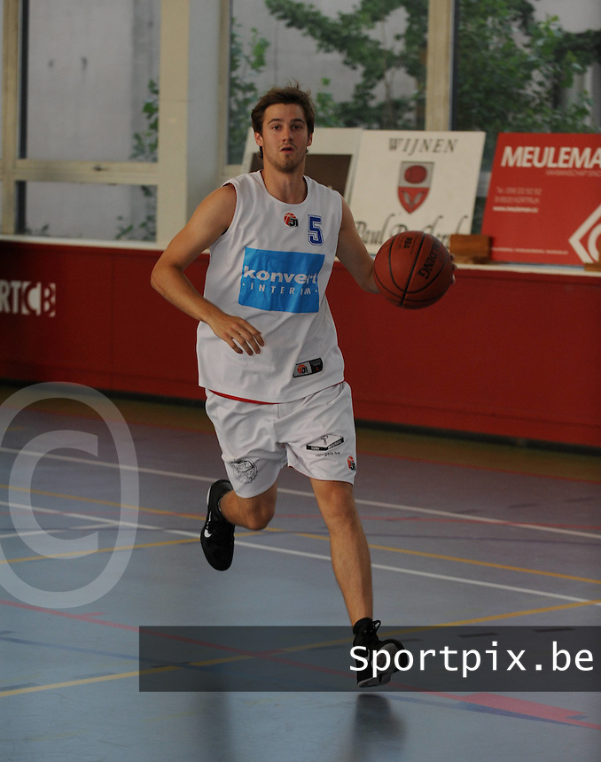 Kortrijk Sport CB Fanion : Simon Planckaert.foto VDB / BART VANDENBROUCKE